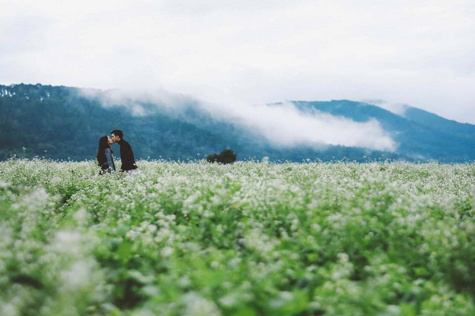 Mãn nhãn với cánh đồng hoa cải Bản Lùn nở trắng trời Mộc Châu - Vietmountain Travel 9